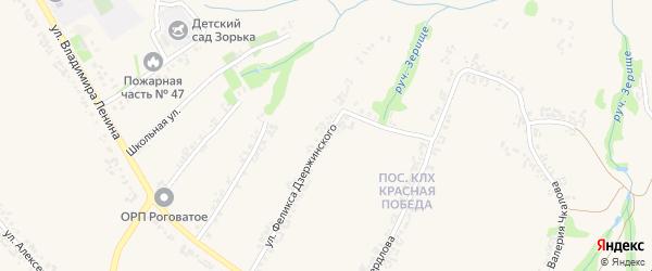 Улица Феликса Дзержинского на карте Роговатого села с номерами домов