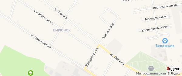 Улица Ленина на карте Бирюча с номерами домов