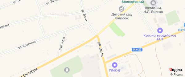 Улица 60 лет Октября на карте села Засосны с номерами домов