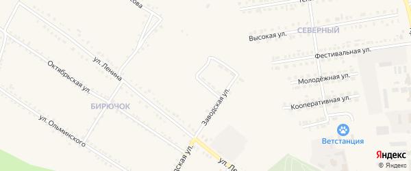 Дорожная улица на карте Бирюча с номерами домов