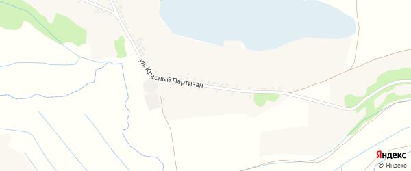 Улица Красный Партизан на карте села Владимировки с номерами домов