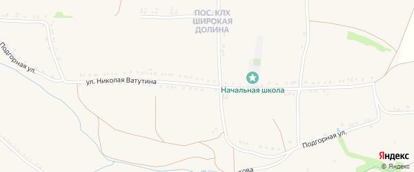 Улица Николая Ватутина на карте Роговатого села с номерами домов