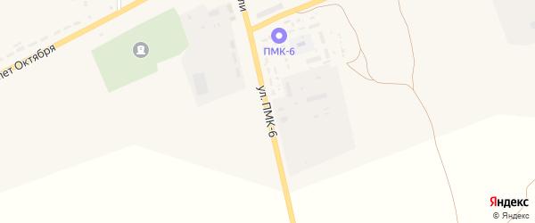 Улица ПМК-6 на карте села Засосны с номерами домов