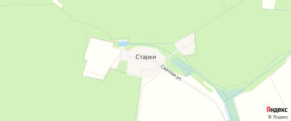 Карта деревни Старки города Черноголовки в Московской области с улицами и номерами домов