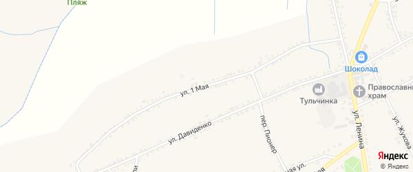 1 Мая улица на карте села Засосны с номерами домов
