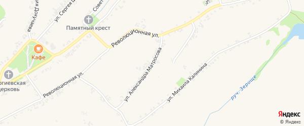 Улица Александра Матросова на карте Роговатого села с номерами домов