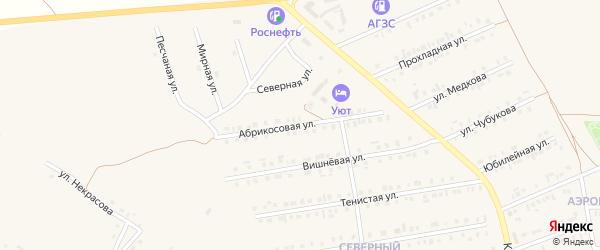 Абрикосовая улица на карте Бирюча с номерами домов