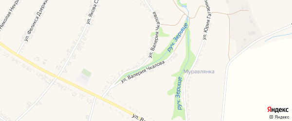 Улица Валерия Чкалова на карте Роговатого села с номерами домов