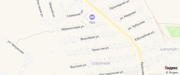 Вишневая улица на карте Бирюча с номерами домов