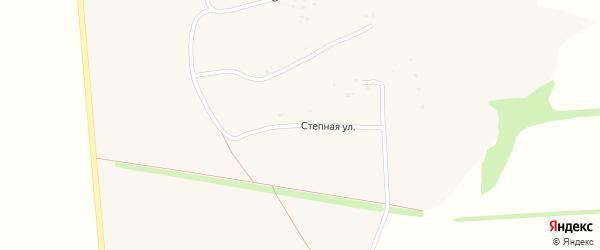 Степная улица на карте села Большебыково с номерами домов