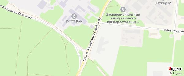 Проспект академика Семенова на карте Черноголовки с номерами домов