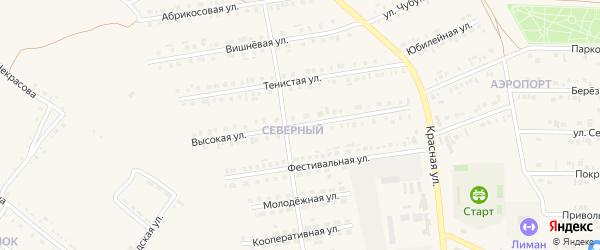 Высокая улица на карте Бирюча с номерами домов