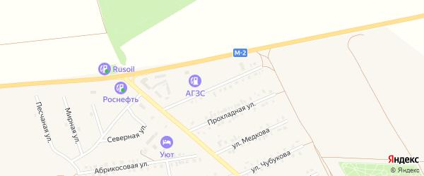 Республиканская улица на карте Бирюча с номерами домов