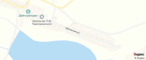 Школьная улица на карте села Клименки с номерами домов