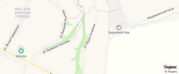 Улица Юрия Гагарина на карте Роговатого села с номерами домов