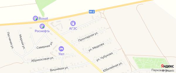 Прохладная улица на карте Бирюча с номерами домов