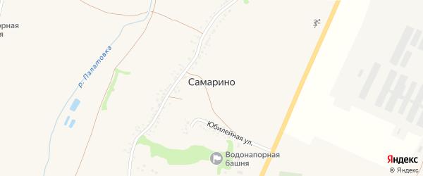 Октябрьская улица на карте села Самарино с номерами домов