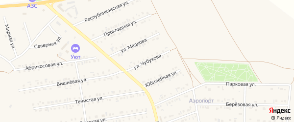 Улица Чубукова на карте Бирюча с номерами домов