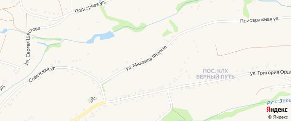 Улица Михаила Фрунзе на карте Роговатого села с номерами домов
