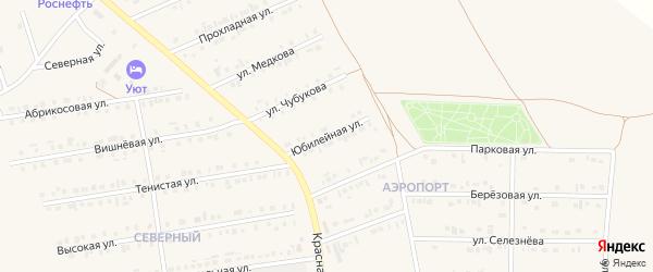 Юбилейная улица на карте Бирюча с номерами домов