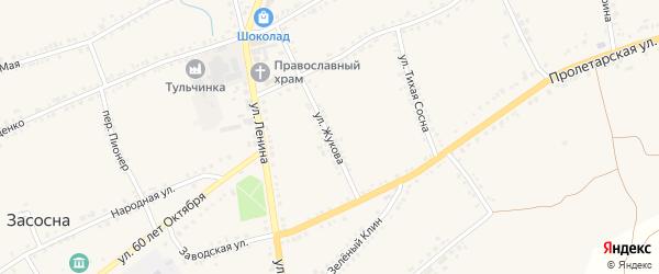Улица Жукова на карте села Засосны с номерами домов