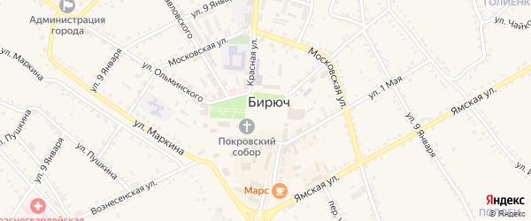 Соборная площадь на карте Бирюча с номерами домов