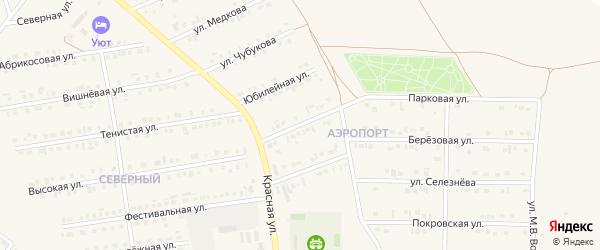 Красногвардейская улица на карте Бирюча с номерами домов