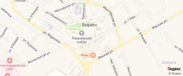 Улица Маркина В.В. на карте Бирюча с номерами домов