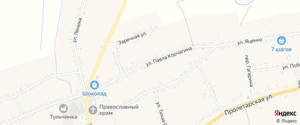 Улица П.Корчагина на карте села Засосны с номерами домов