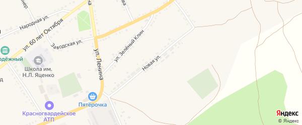 Новая улица на карте села Засосны с номерами домов