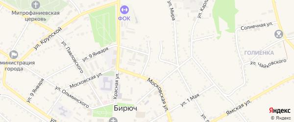 Улица Парижской Коммуны на карте Бирюча с номерами домов