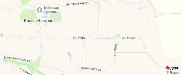 Улица Мира на карте села Большебыково с номерами домов