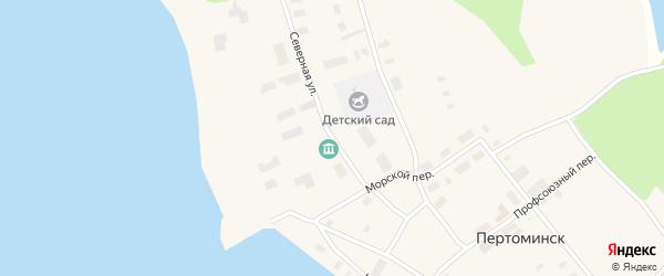Северная улица на карте поселка Пертоминска с номерами домов