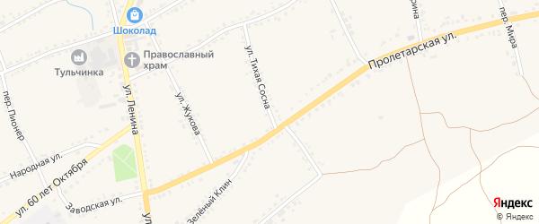Улица Тихая Сосна на карте села Засосны с номерами домов