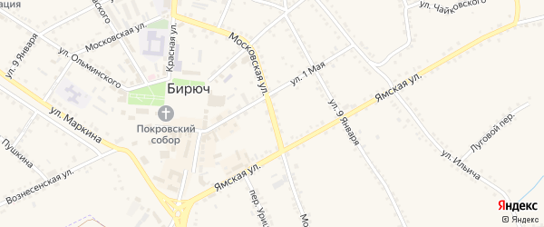 Московская улица на карте Бирюча с номерами домов