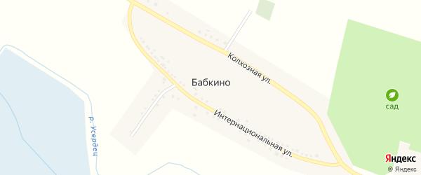 Колхозная улица на карте села Бабкино с номерами домов