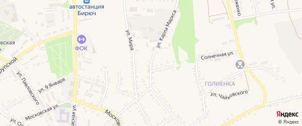Улица Карла Маркса на карте Бирюча с номерами домов
