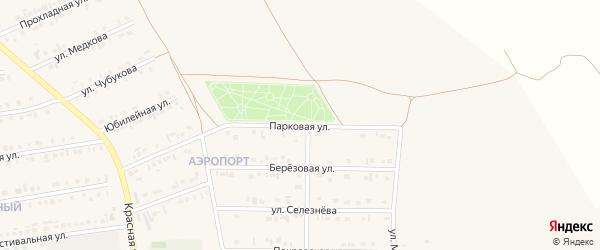 Парковая улица на карте Бирюча с номерами домов