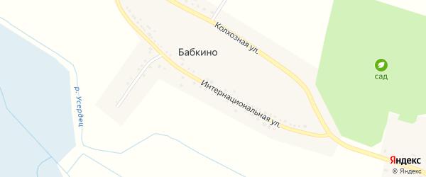 Интернациональная улица на карте села Бабкино с номерами домов