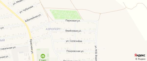 Берёзовая улица на карте Бирюча с номерами домов