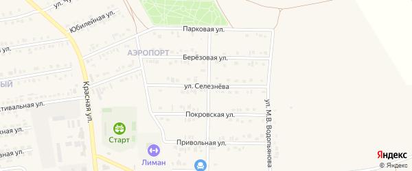 Улица Имени Е.Селезнёва на карте Бирюча с номерами домов