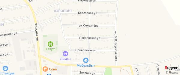 Покровская улица на карте Бирюча с номерами домов