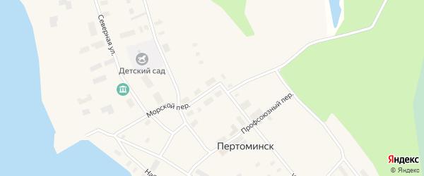 Улица Ленина на карте поселка Пертоминска с номерами домов