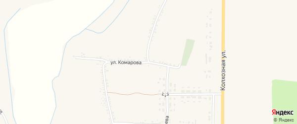 Улица Комарова на карте села Никитовки с номерами домов