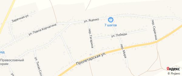Переулок Гагарина на карте села Засосны с номерами домов