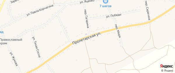 Пролетарская улица на карте села Засосны с номерами домов