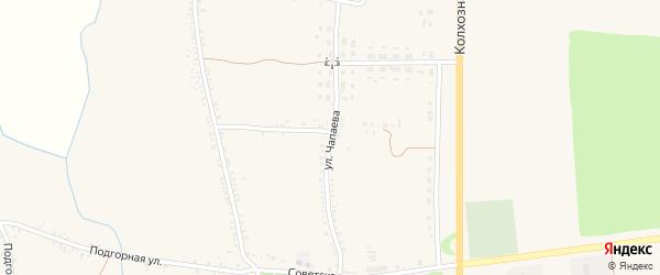 Улица Чапаева на карте села Никитовки с номерами домов