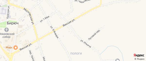 Улица Ильича на карте Бирюча с номерами домов