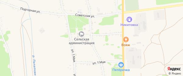 Советская улица на карте села Никитовки с номерами домов