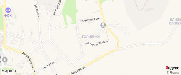 Улица Чайковского на карте Бирюча с номерами домов